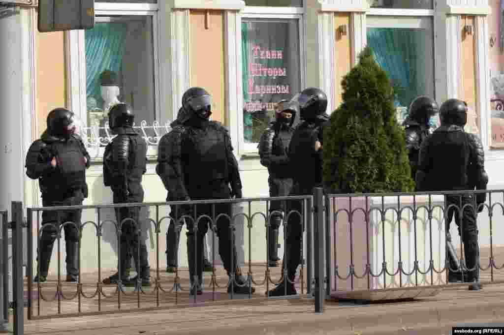 Силовики в Гомеле на протестной акции
