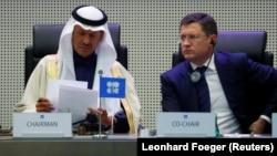 Министры энергетики Саудовской Аравии и России на заседании ОПЕК в Вене