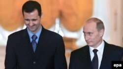 Владимир Путин и Башар Асад на переговорах в 2006 году