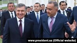 Хоким Ташкента Джахонгир Артыкходжаев с президентом Шавкатом Мирзиеевым