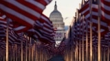 """The """"Field of flags"""" is seen on the National Mall ahead of inauguration ceremonies for President-elect Joe Biden"""