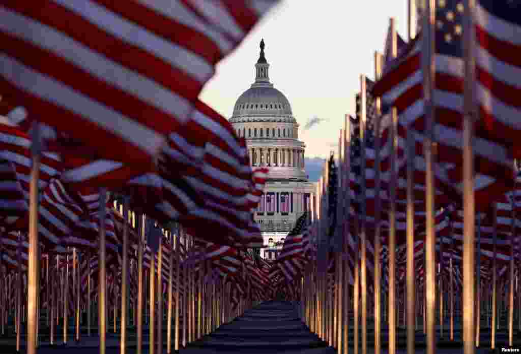 For the 2021 presidential inauguration, over 190,000 U.S. flags took the place of spectators on the National Mall.