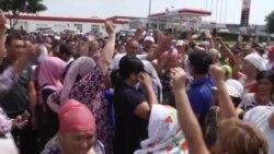 На юге Казахстана протестуют эвакуированные после взрывов в Арыси