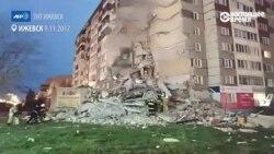 Ижевск: видео с места обрушения части дома