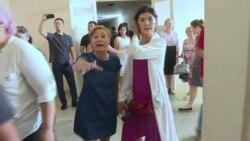 В Алматы неизвестные женщины сорвали пресс-конференцию Бюро по правам человека