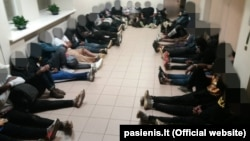 Задержанные 1 июля на белорусско-литовской границе мигранты-нелегалы