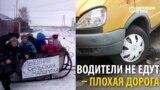 """Жители села в Омской области устали ждать автобуса и организовали """"маршрутку"""" - лошадь с санями"""