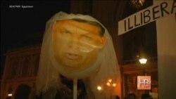 Тысячи жителей Будапешта вышли на акцию протеста против визита Владимира Путина