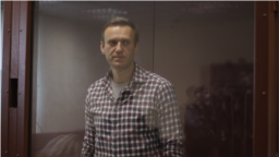 Russia -- Alexey Navalny in Moscow court on February 20, 2021