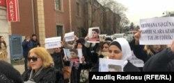 Протесты в поддержку Гусейнова в Баку 3 января 2019 года