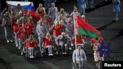 Сборная Беларуси на открытии Паралимпиады, 7 сентября
