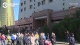 Ночевка на лестнице и прорыв ко дворцу президента. В Казахстане митингуют многодетные матери