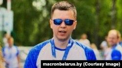 Андрей Зельцер, подозреваемый в нападении на сотрудника КГБ. Скриншот с сайта macronbelarus.by