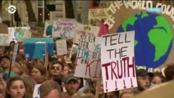 Америка: глобальный климатический протест