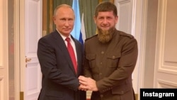Рамзан Кадыров с Владимиром Путиным