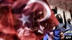 Демонстрация в поддержку президента Турции Реджепа Эрдогана 19 июля 2016