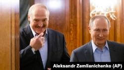 Президент Беларуси Александр Лукашенко и президент России Владимир Путин 7 февраля 2020 года