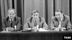 Пресс-конференция членов ГКЧП в Москве, 19 августа 1991 года