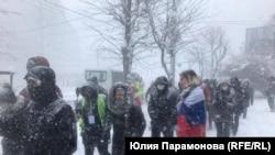 Акция протеста 31 января 2021 года в Калининграде
