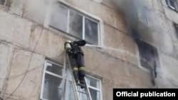 Пожар в доме в Жамбылской области Казахстана, фото МЧС Казахстана