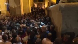 Ночное противостояние в Тбилиси