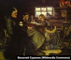 """Василий Суриков. """"Меньшиков в Березове"""". 1883"""