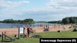 Городской пляж в Великом Новгороде