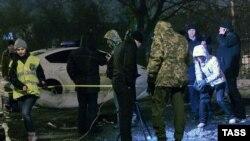 Взрыв у здания Московского суда в Харькове 19 января