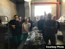 Арестованные в Сахарове после протестов в январе 2021 года. Фото: Марина Литвинович