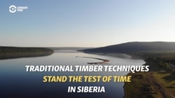 The Raftsmen Of Siberia Move Timber The Old-Fashioned Way