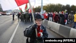 Нина Багинская на Марше пенсионеров, 19 октября 2020 года