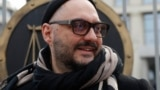 RUSSIA -- Russian theater and film director Kirill Serebrennikov speaks to the media after a court hearing in Moscow, April 8, 2019