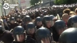 Police Crackdown On Protest For Registration Of Independent Candidates For Moscow City Council