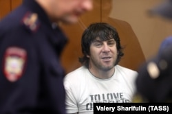 Tamerlan Eskerkhanov at the Moscow District Military Court's sentencing on July 13, 2017.