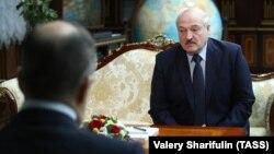 Встреча главы МИД России Сергея Лаврова с Александром Лукашенко. Минск, Беларусь, 26 ноября 2020 года