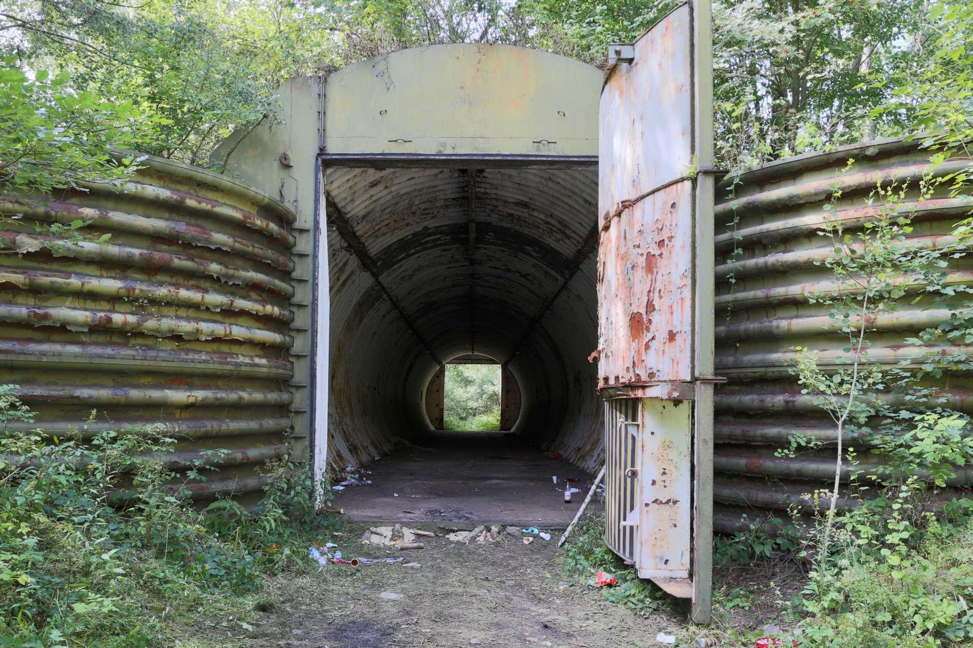 Укрытие для ракетных комплексов «Темп-С» в лесу под Либавой