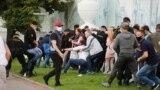 Задержания во время мирной акции солидарности в поддержку не допущенных к выборам Виктора Бабарико и Валерия Цепкало. Беларусь, Минск, 14 июля 2020 года