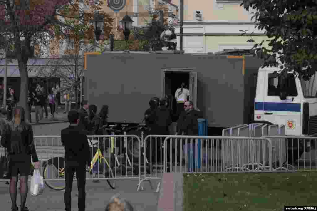 Задержание протестующих в Гродно