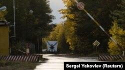 Контрольно-пропускной пункт военного гарнизона, расположенного недалеко от деревни Нёнокса в Архангельской области, 7 октября 2018 года