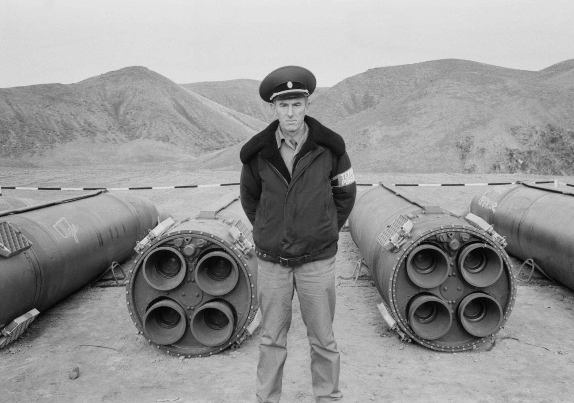 Ракеты ОТР-23 «Ока» на полигоне Сарыозек перед уничтожением