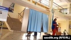 Избирательный участок в Самарканде