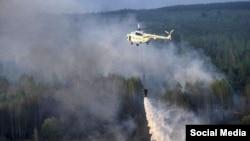 Пожар в национальном парке Шахдаг в Азербайджане, фото orctv.az