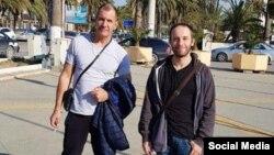 Максим Шугалей и социолог Александр Прокофьев в Ливии