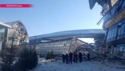 В Астане рухнуло здание выставочного комплекса ЭКСПО-2017