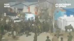 Массовая драка военных в Чечне. Предположительно русские против чеченцев