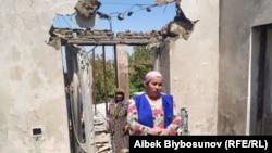 Жительницы пострадавшей деревни в Лейлекском районе Баткенской области Кыргызстана