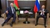 RUSSIA -- Belarusian President Alyaksandr Lukashenka meets with Russian President Vladimir Putin in the Black Sea resort of Sochi, September 14, 2020