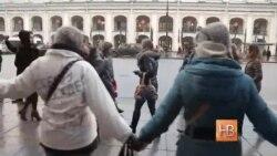 В Санкт-Петербурге состоялась акция в поддержку украинской летчицы Надежды Савченко