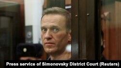 Алексей Навальный в суде, 25 февраля 2021 года