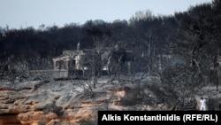 Последствия пожара в Мати